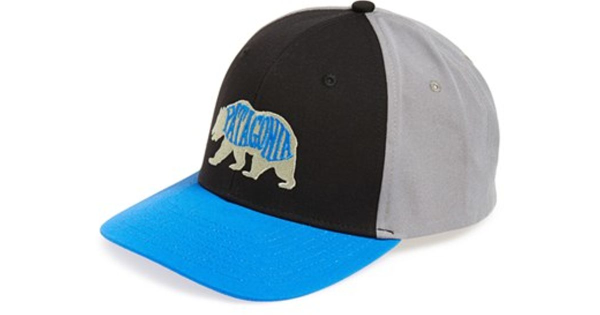Lyst - Patagonia  bear Heaven Roger That  Baseball Cap in Black for Men 090f95804aa