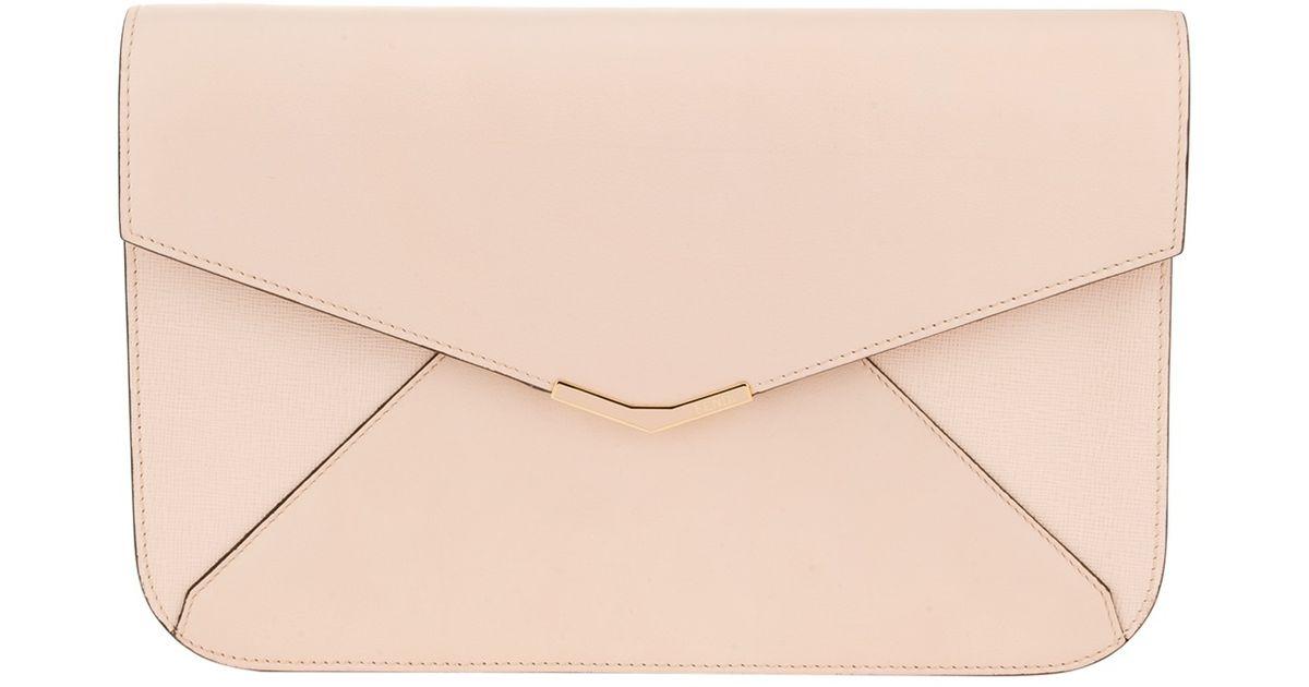 Fendi Geometric Envelope Clutch