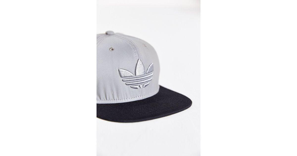 6d7fa893e29 Lyst - adidas Originals Mixed 3M Reflective Snapback Hat in Metallic for Men