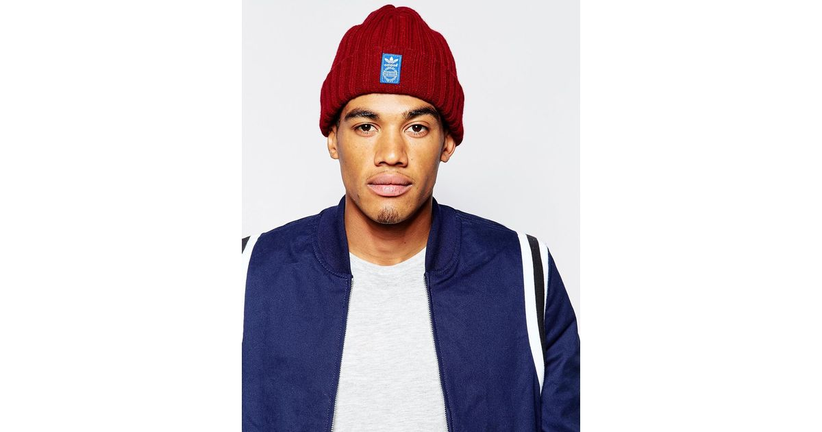 best sneakers a99d5 25ca6 adidas Originals Fishermans Beanie in Red for Men - Lyst