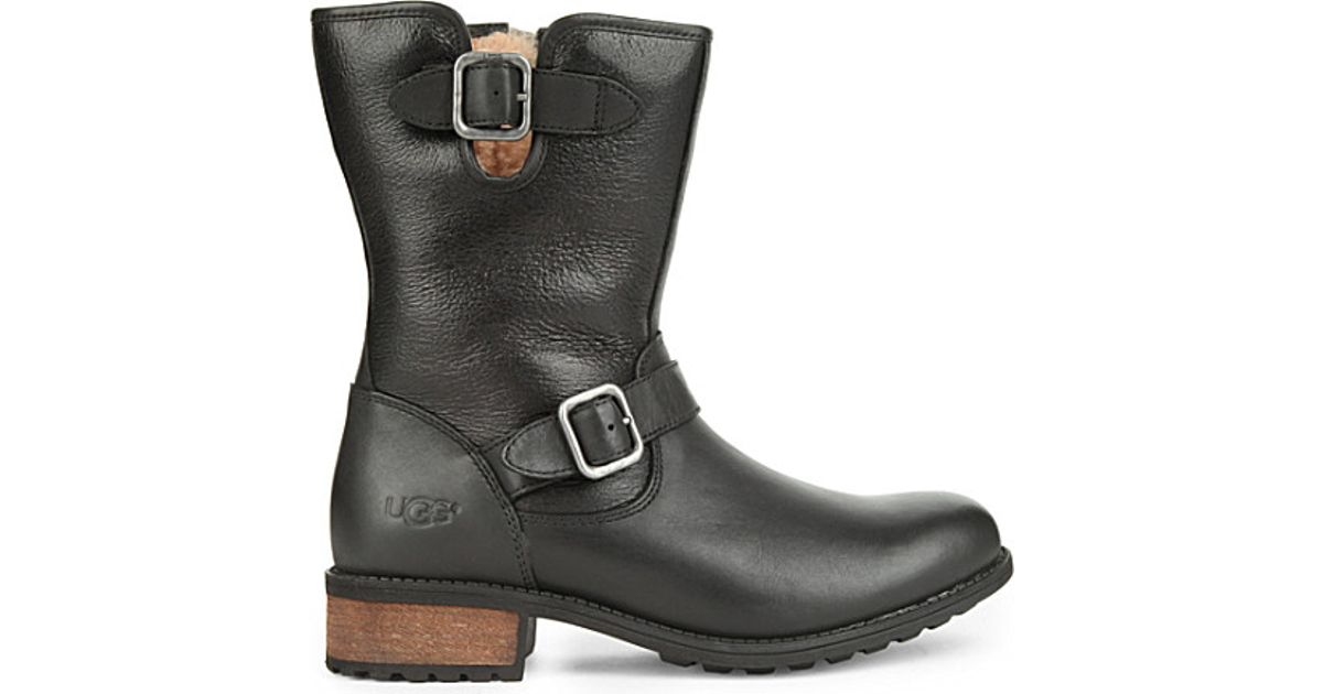 41bea2352e9 UGG Black Chaney Leather Boots