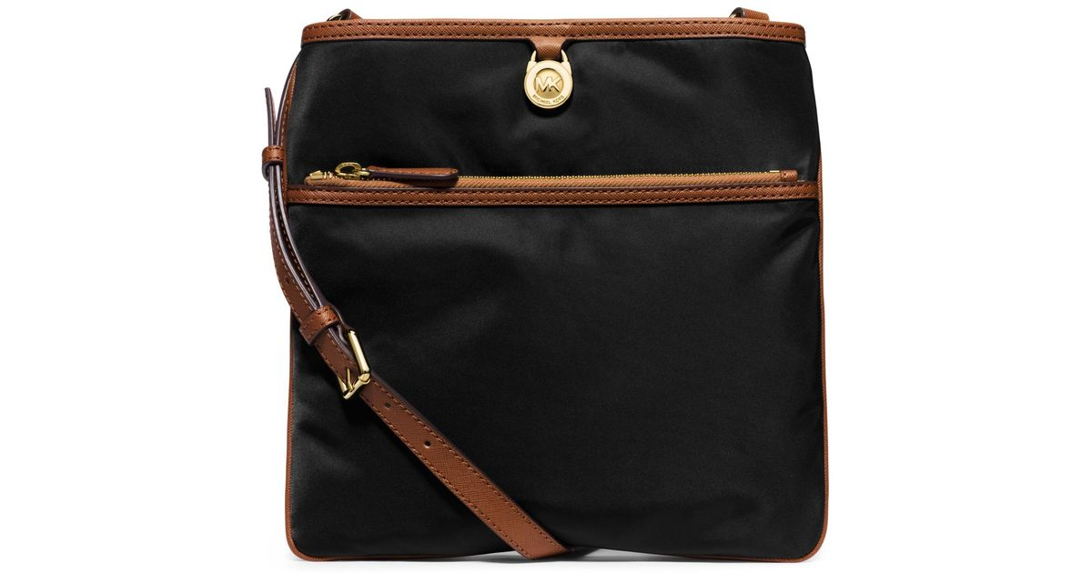 15e402c8855e Lyst - Michael Kors Kempton Large Nylon Crossbody in Black