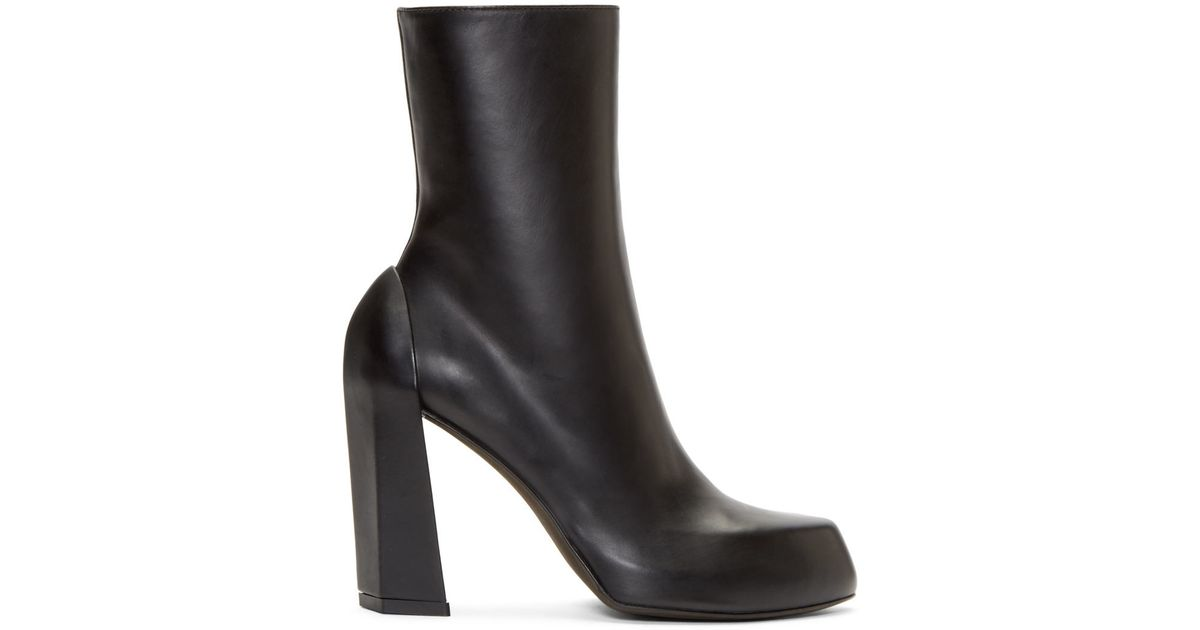 248f7aa8a38 Ann Demeulemeester Black Leather Platform Boots