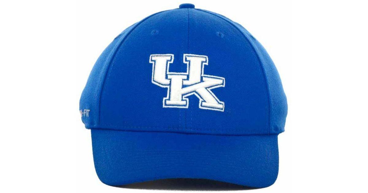 29388fc668aa6 Lyst - Nike Kentucky Wildcats Drifit Swoosh Flex Cap in Blue for Men