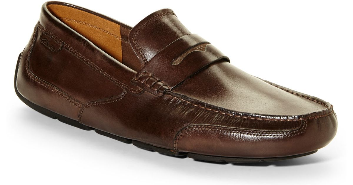8158ea01a0b Lyst - Clarks Brown Ashmont Way Penny Loafers in Brown for Men