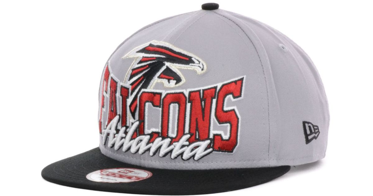 b67769c9 KTZ Atlanta Falcons Nfl Gray Out And Up 9Fifty Snapback Cap in Gray for Men  - Lyst