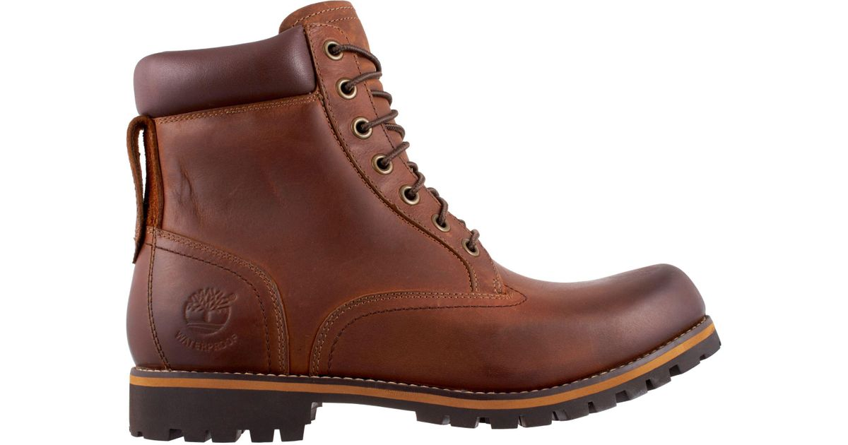 22157b89e3f Timberland Brown Earthkeepers Rugged Mid Waterproof Hiking Boots for men