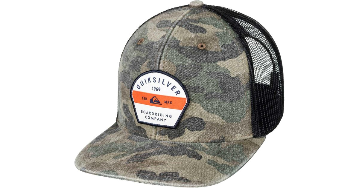 4d72d5646df Lyst - Quiksilver Quicksilver Silver Lining Trucker Hat for Men