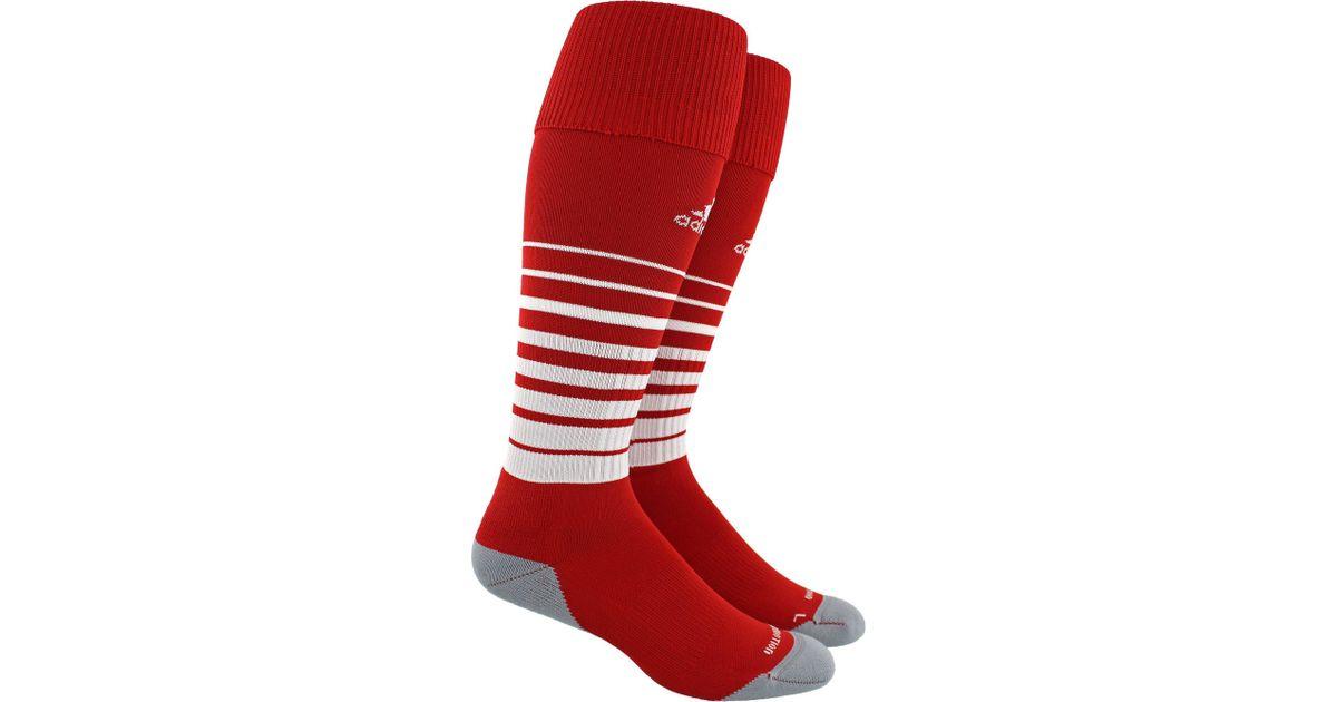 eb7279c6cf7c Lyst - adidas Team Speed Soccer Socks in Red for Men