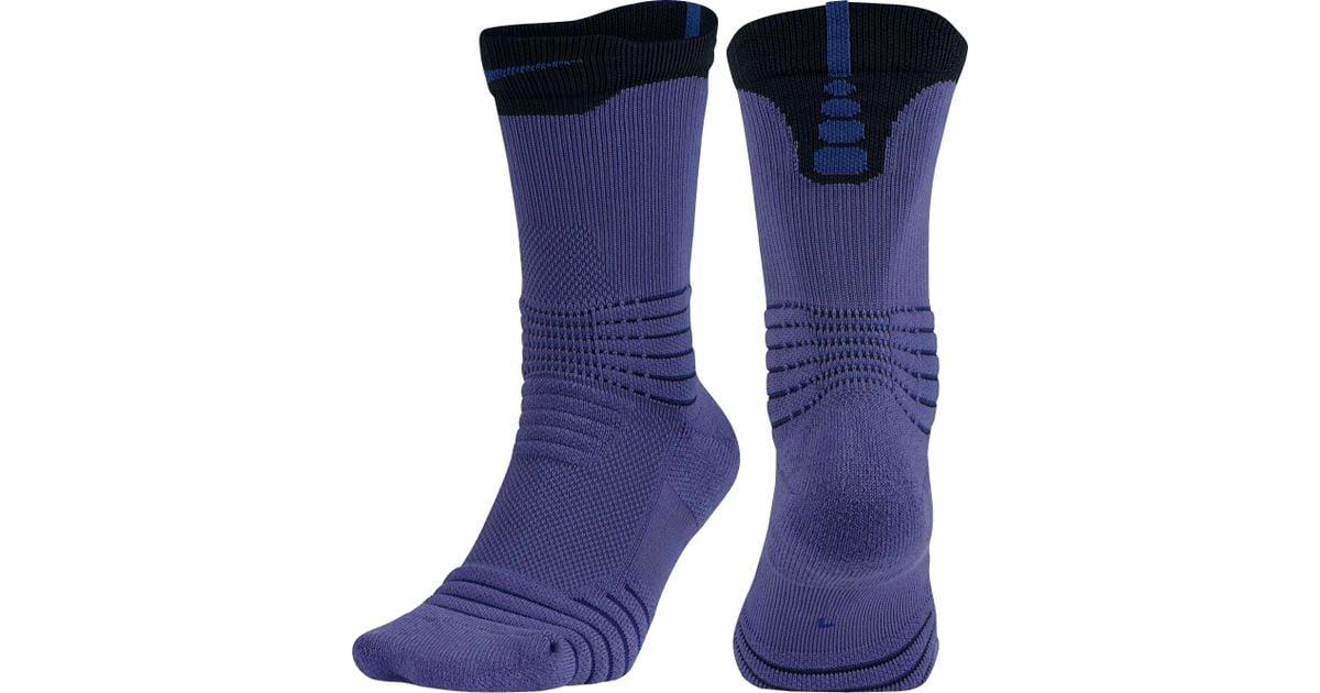 laberinto carbón Corredor  Nike Synthetic Elite Versatility Crew Basketball Socks in Purple for Men -  Lyst