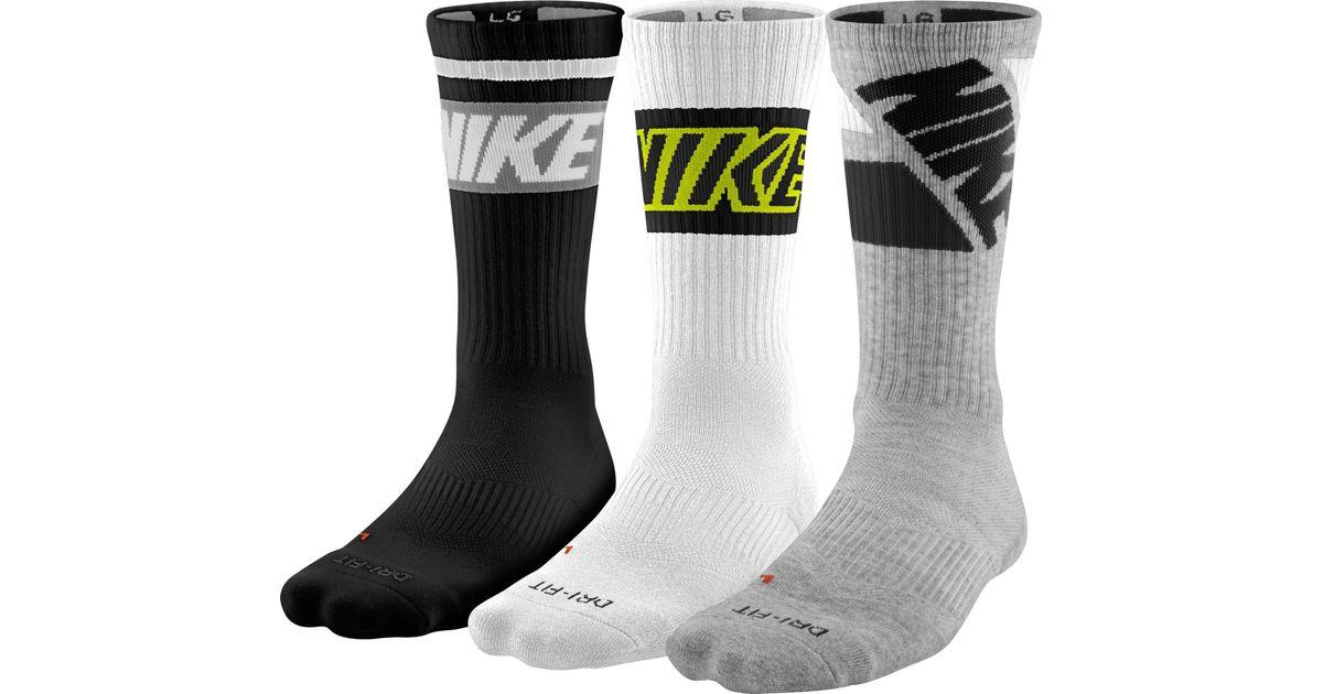 Hommes Nike Dri-fit Mouche Chaussettes Lecture De L'équipage 3-pack best-seller pas cher Nouveau meilleurs prix discount jeu de jeu 77UnOSI