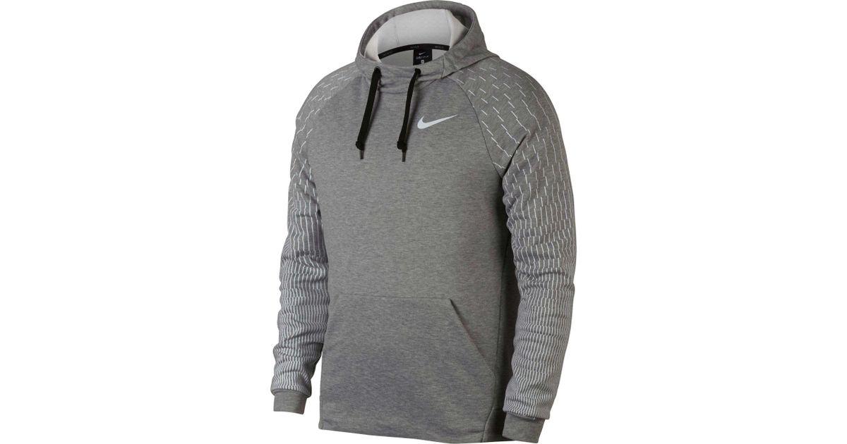 Lyst - Nike Dry Logo Rainstorm Printed Hoodie in Gray for Men 1c9699046