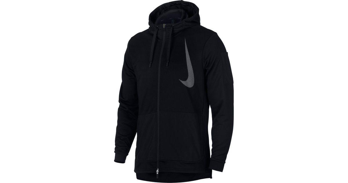 80f22af29eae14 Lyst - Nike Dry Hd Full Zip Hoodie in Black for Men