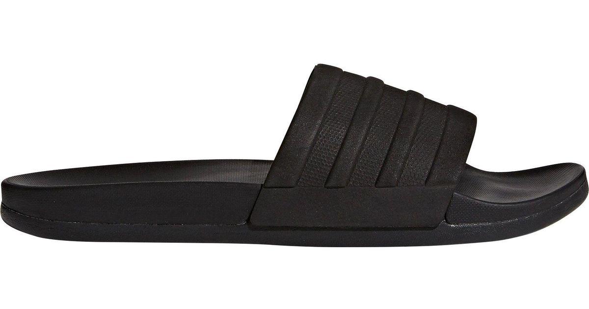 d63d4b41d0b9 adidas Adilette Cloudfoam Plus Mono Slides in Black for Men - Lyst