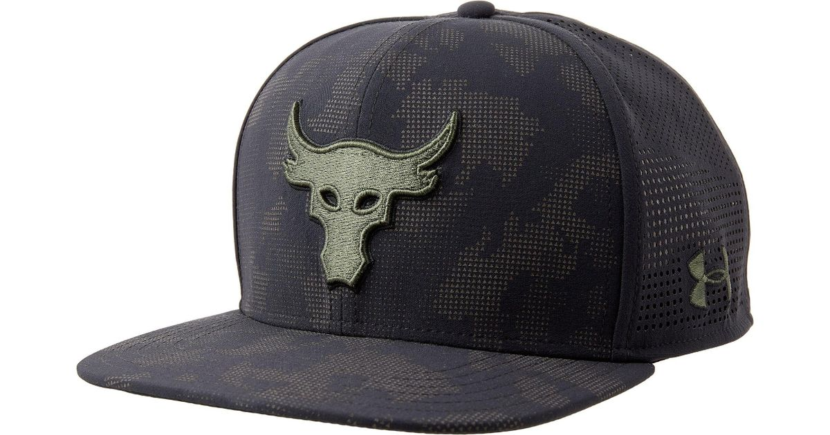 brand new cfe8e 959da ... canada lyst under armour project rock supervent snapback hat in black  for men d37ad d3d6c