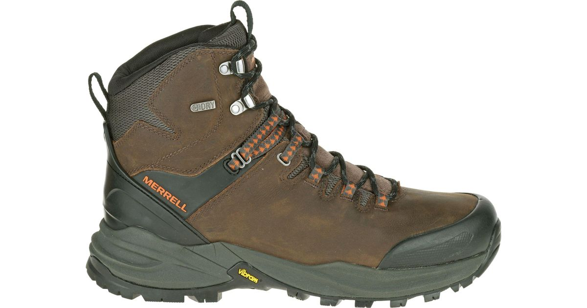 697936a44ff Merrell Brown Phaserbound Waterproof Hiking Boots for men