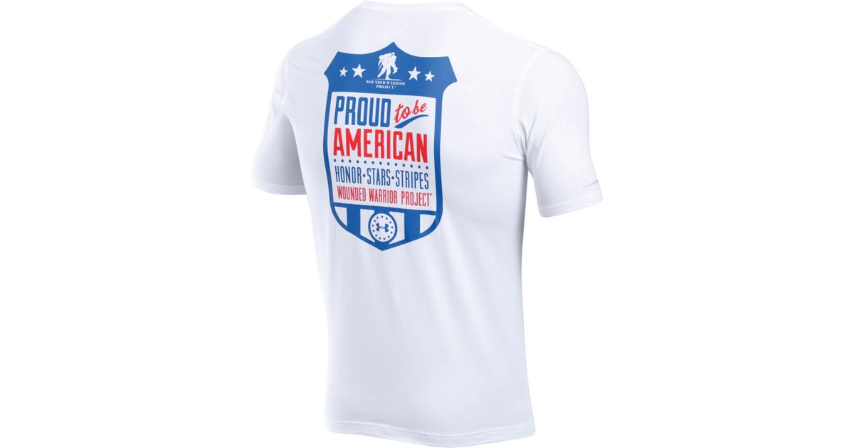 1592bde5 Lyst Under Armour Wounded Warrior Project Proud American T Shirt