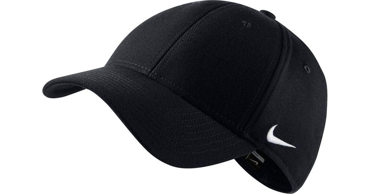 get new detailed pictures best cheap Nike Black 91 Legacy Swoosh Flex Hat for men