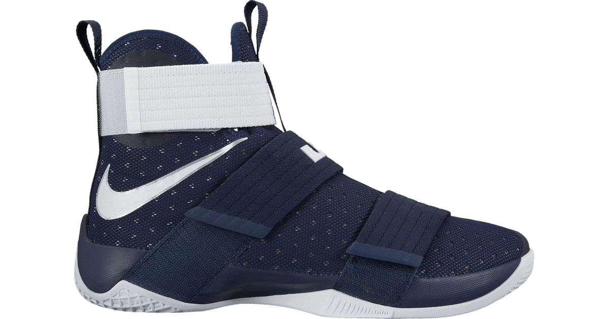 new style 068ab baff1 Nike Blue Zoom Lebron Soldier X Basketball Shoes for men