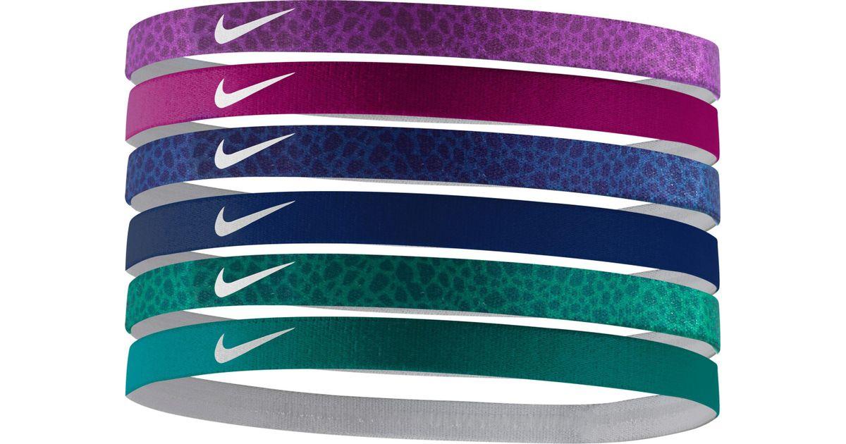 43c7f149fb1b Lyst - Nike Graphic Headbands – 6 Pack in Purple