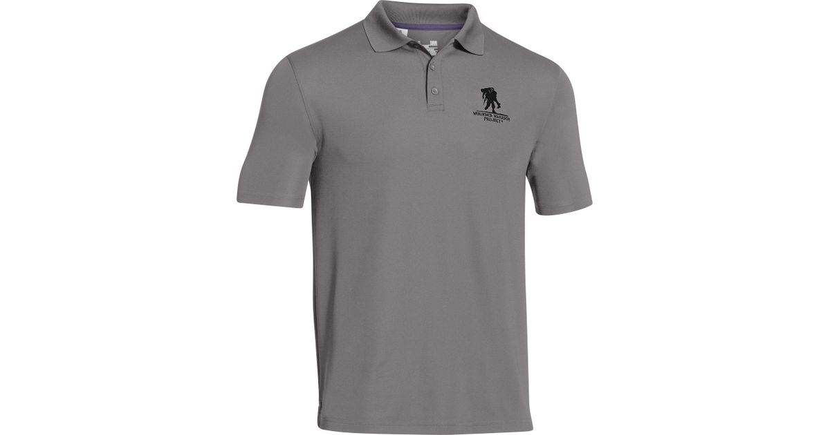 78325ad7 Under Armour Wounded Warrior Project Performance Polo Shirt in Gray for Men  - Lyst