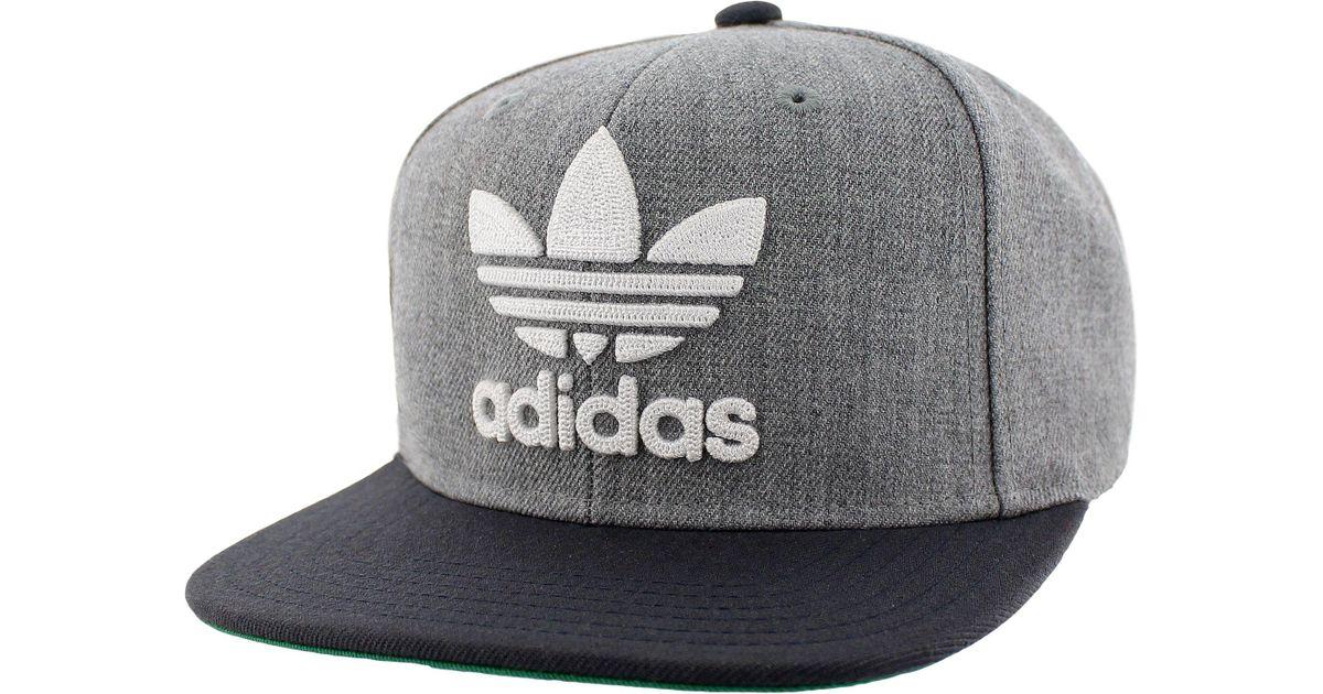 679fffaed278 Adidas - Gray Originals Trefoil Chain Snapback Hat for Men - Lyst