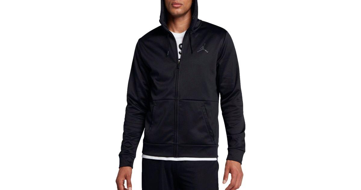 50% off new styles ever popular Nike Black Jordan Therma 23 Alpha Full Zip Hoodie for men