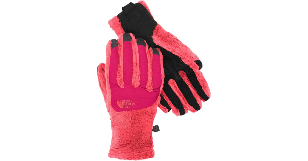 db16ac00a The North Face Pink Denali Thermal Etip Gloves - Past Season