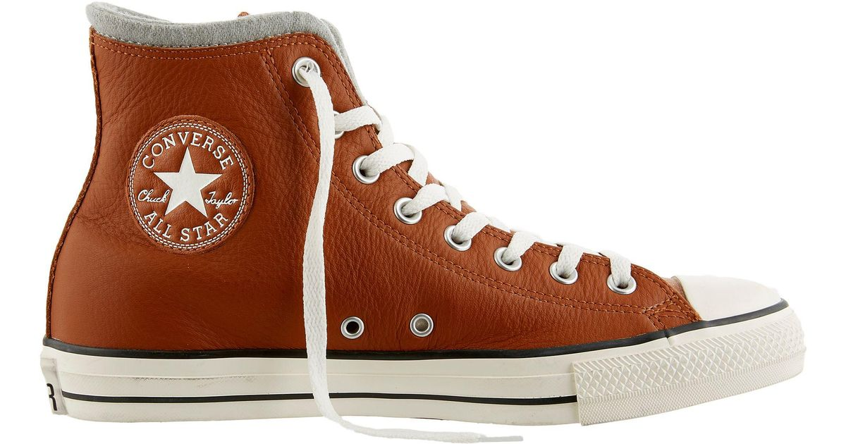 Converse Chuck Taylor All Star High Tops Brown Leather