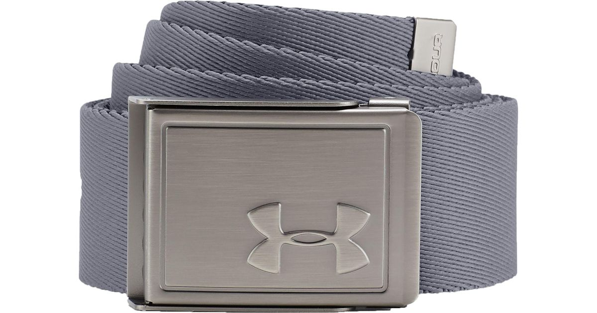 553a65122a Under Armour Gray Webbing 2.0 Reversible Golf Belt for men