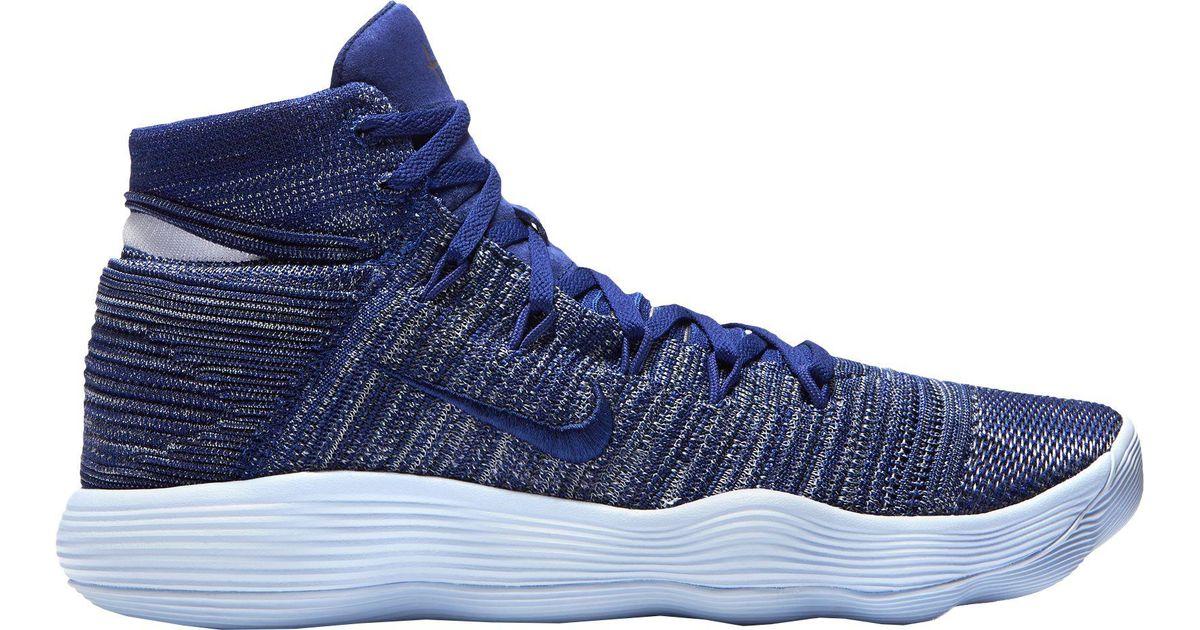 b336046c0d5e0 Lyst - Nike React Hyperdunk 2017 Flyknit Basketball Shoes in Blue for Men