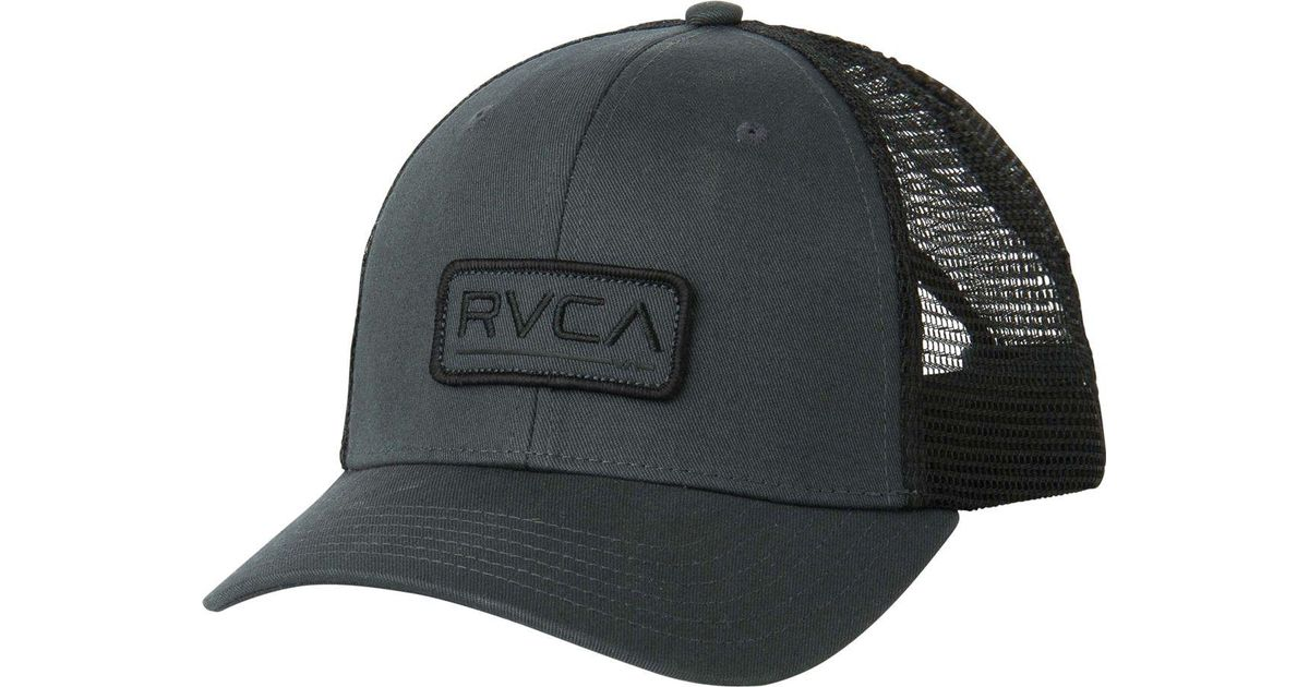 c015a511fda5d8 ... shopping lyst rvca ticket trucker hat in gray for men d3ffa b5608