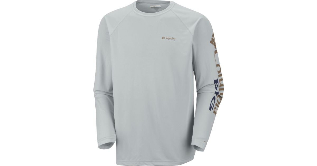 2d7c0ae3037 Lyst - Columbia Pfg Terminal Tackle Sleeve Long Sleeve Shirt in Gray for Men