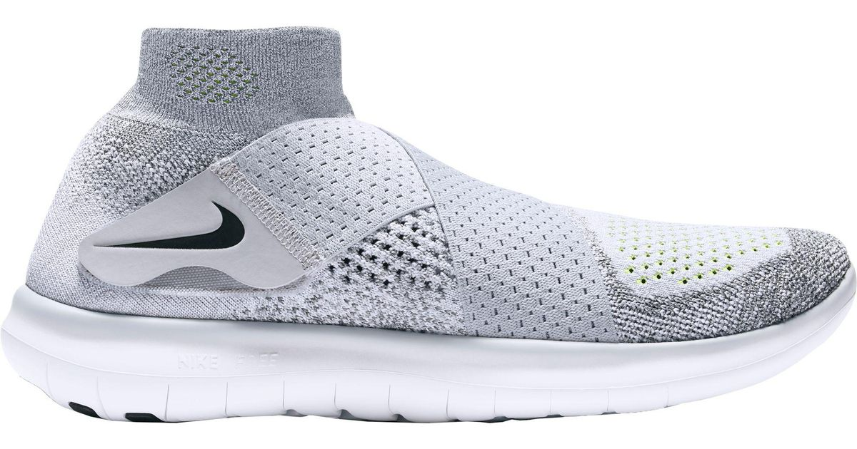 more photos 31fd1 9ed90 Nike - Gray Free Rn Motion Flyknit 2 Running Shoes for Men - Lyst