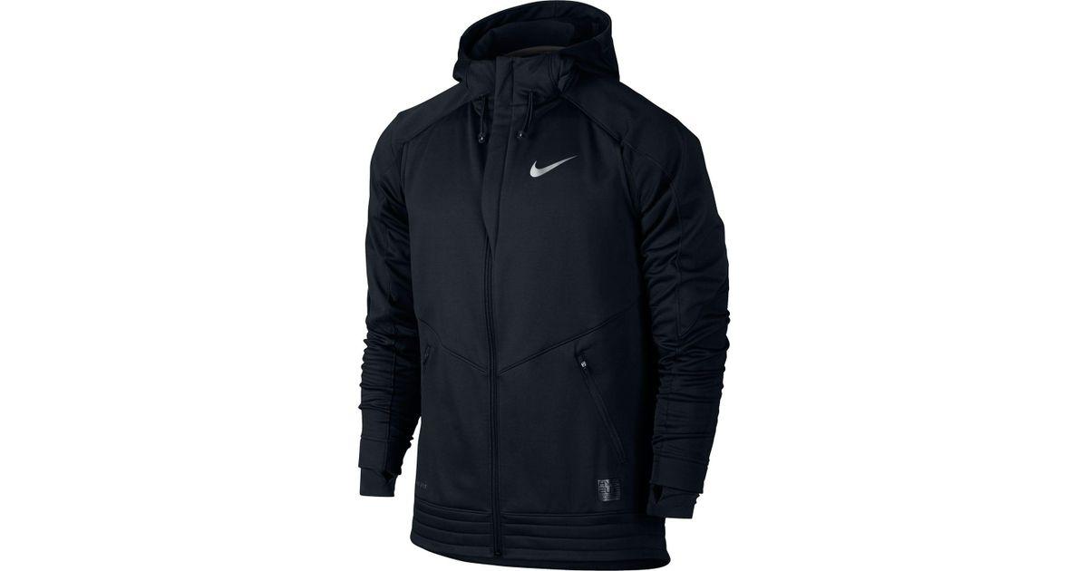 new styles 49446 0b126 Nike Hyper Elite Winterized Motion Full Zip Basketball Hoodie in Black for  Men - Lyst