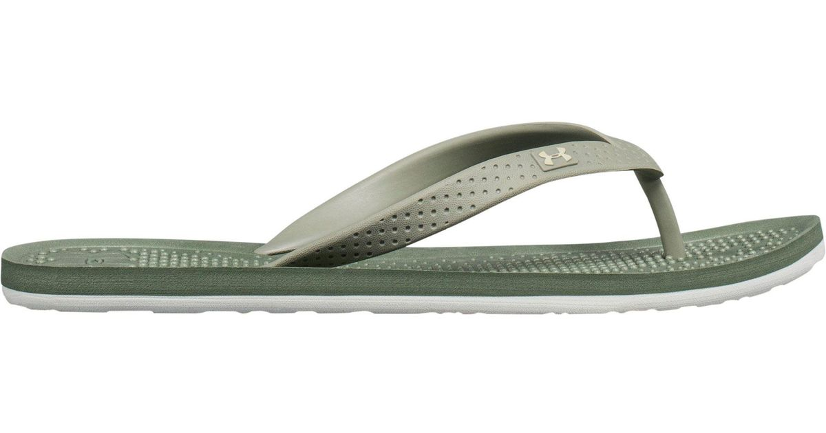 Under Armour Atlantic Dune Flip-Flop In Green - Save 48 -8209