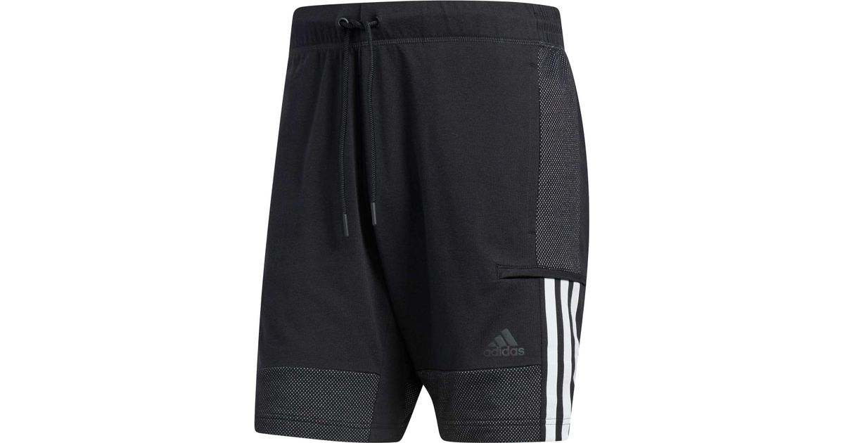 new styles da528 51a45 adidas Sport Id Cotton Jersey Training Shorts in Black for Men - Lyst