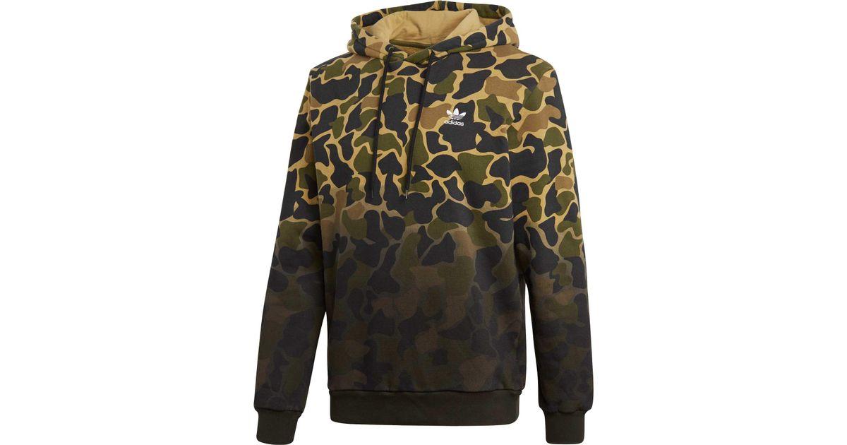 new product 2469e aa76c Adidas Multicolor Originals Camo Pullover Hoodie for men