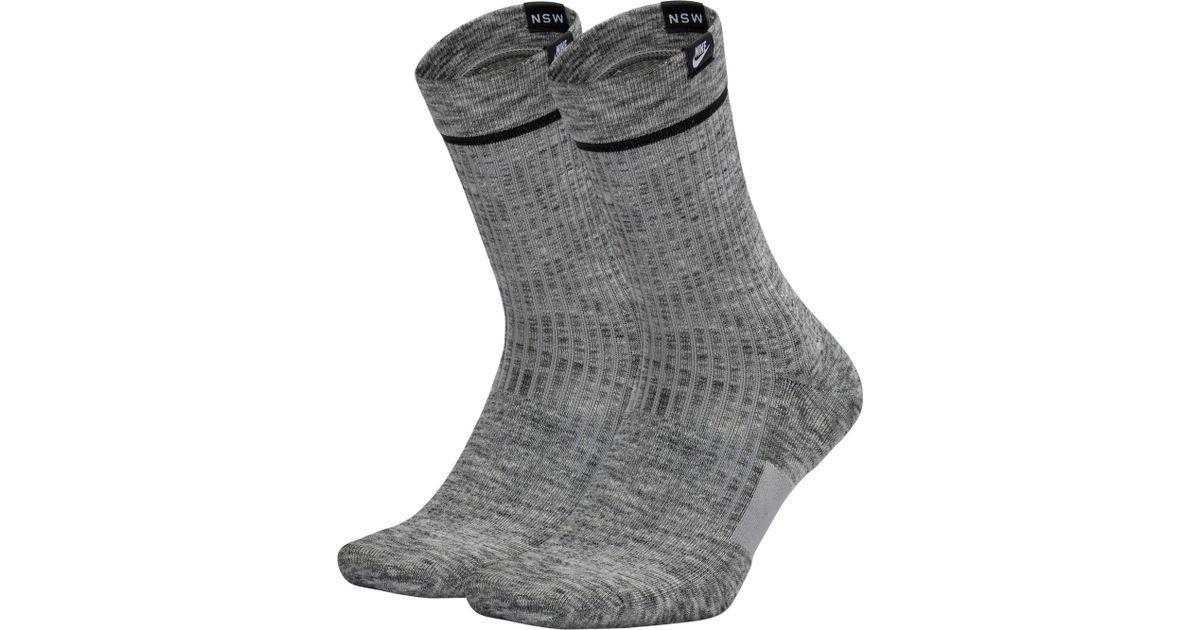 5ed5609952633 Nike Gray Sneaker Sox Essential Crew Socks 2 Pack for men