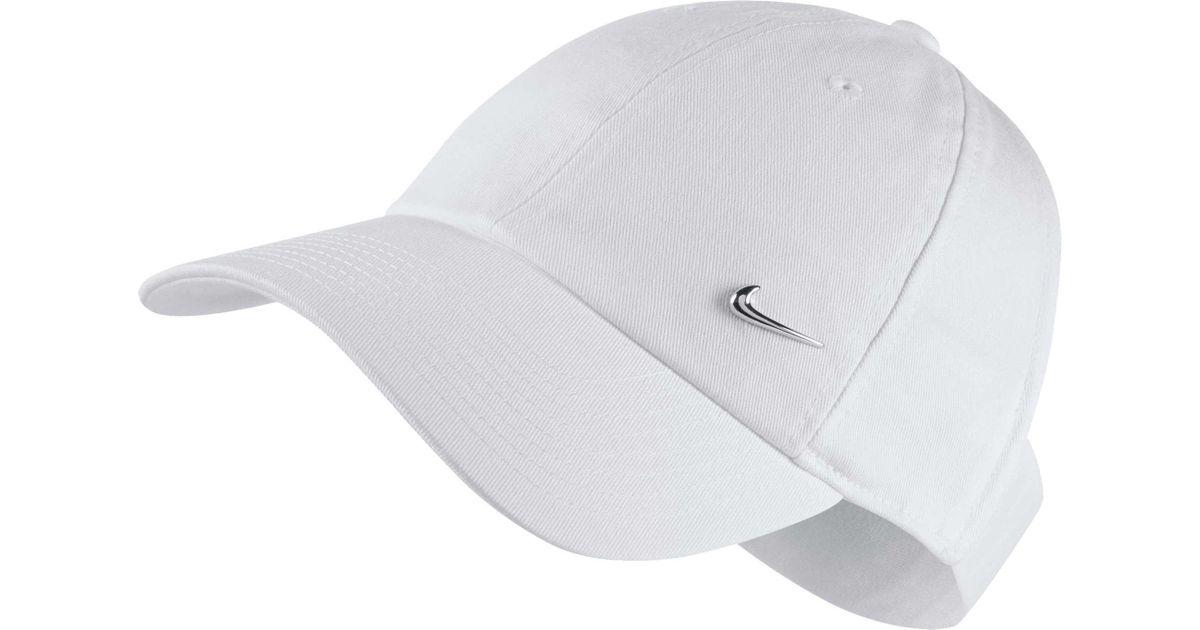 Lyst - Nike Sportswear Open Back Visor Hat in White 64b5ee9f8d2