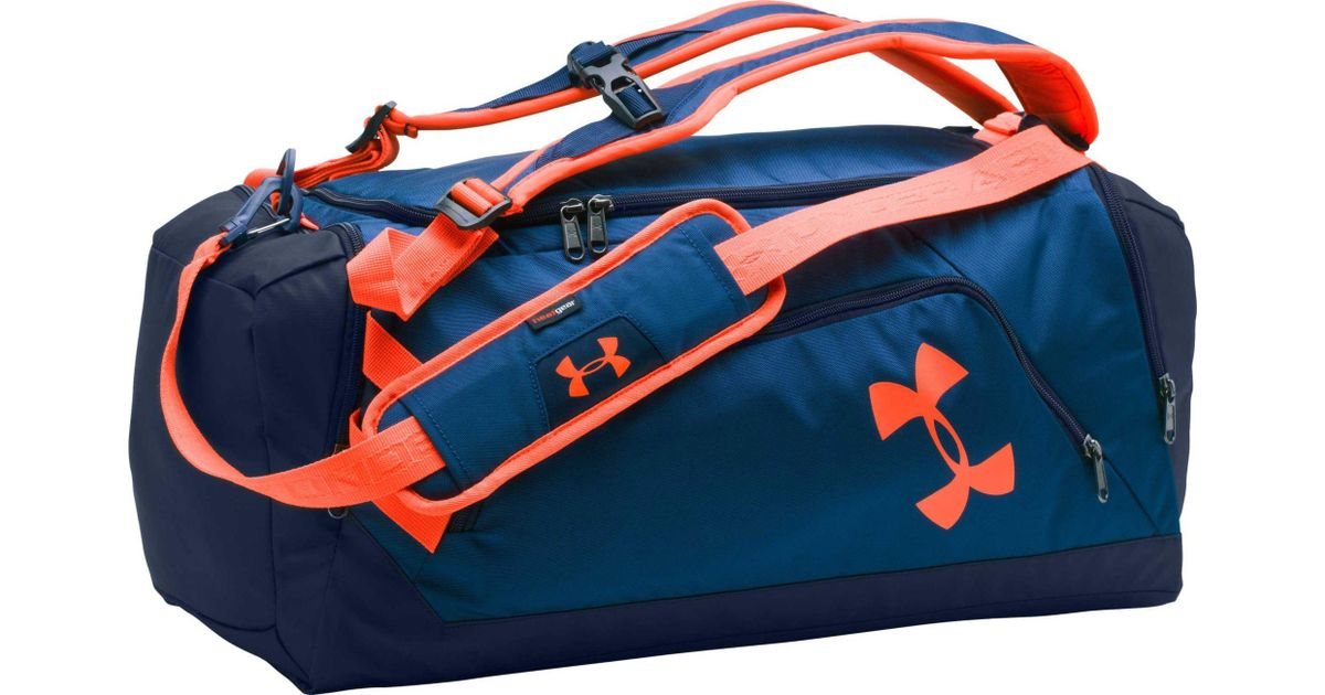 7af261fe38399 Under Armour Blue Contain Duo Backpack Duffle for men