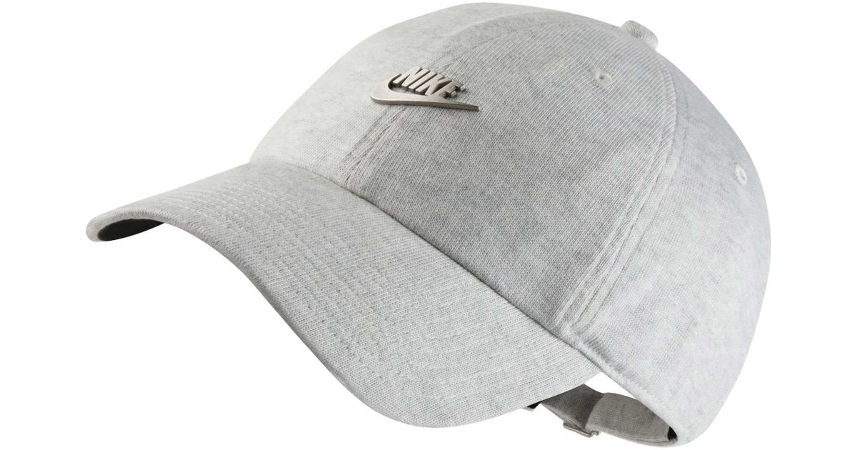 8ca50b62e Nike Gray Sportswear Heritage86 Metal Futura Training Cap for men