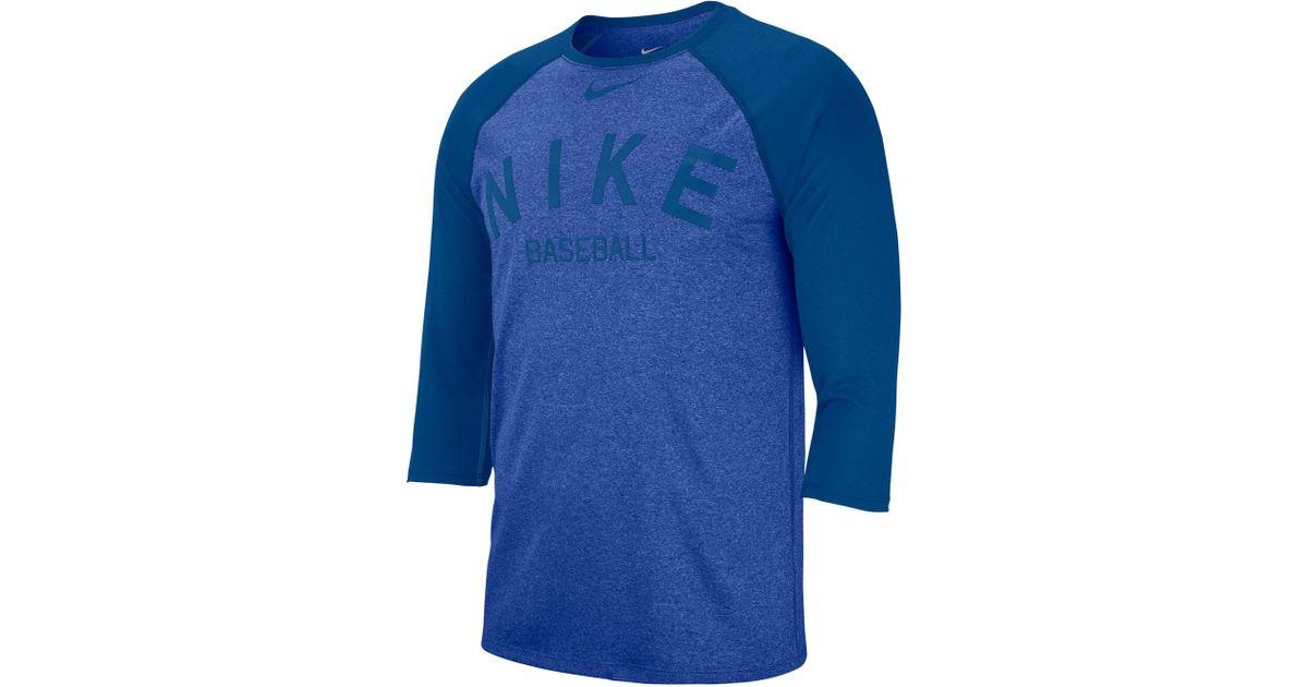 5e516c4970ed Lyst - Nike Dry Cross-dye Legend Baseball T-shirt in Blue for Men