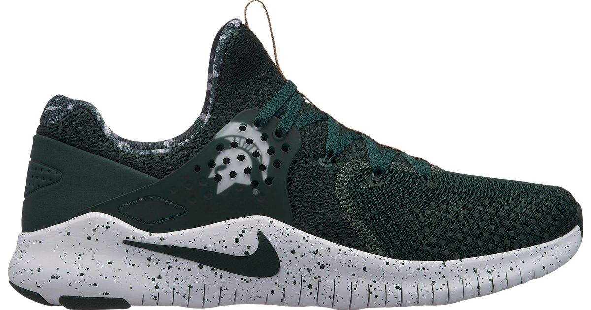 583020633 Lyst Nike Free Tr 8 Michigan State Training Shoes In Green For Men