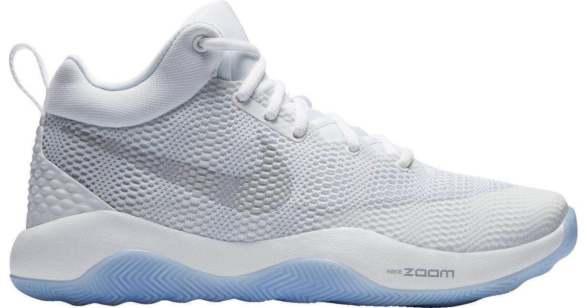 019faafcaa2 Nike White Zoom Rev 2017 Basketball Shoes for men