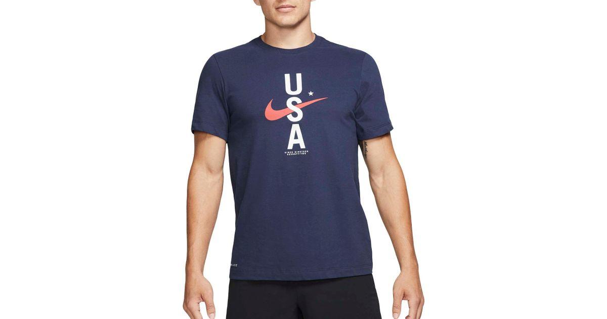 b6243f826 Lyst - Nike Rwb Training T-shirt in Blue for Men