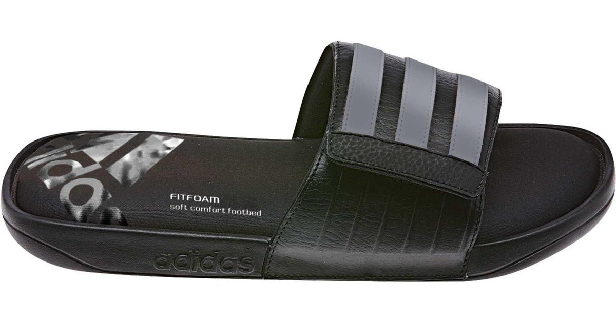 efd41e98ba36d6 Lyst - adidas Adissage Comfort Ff Slides in Black for Men
