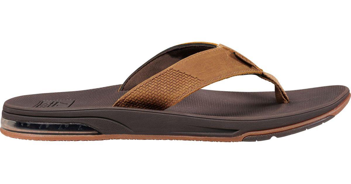 Reef Brown Leather Flip Flops