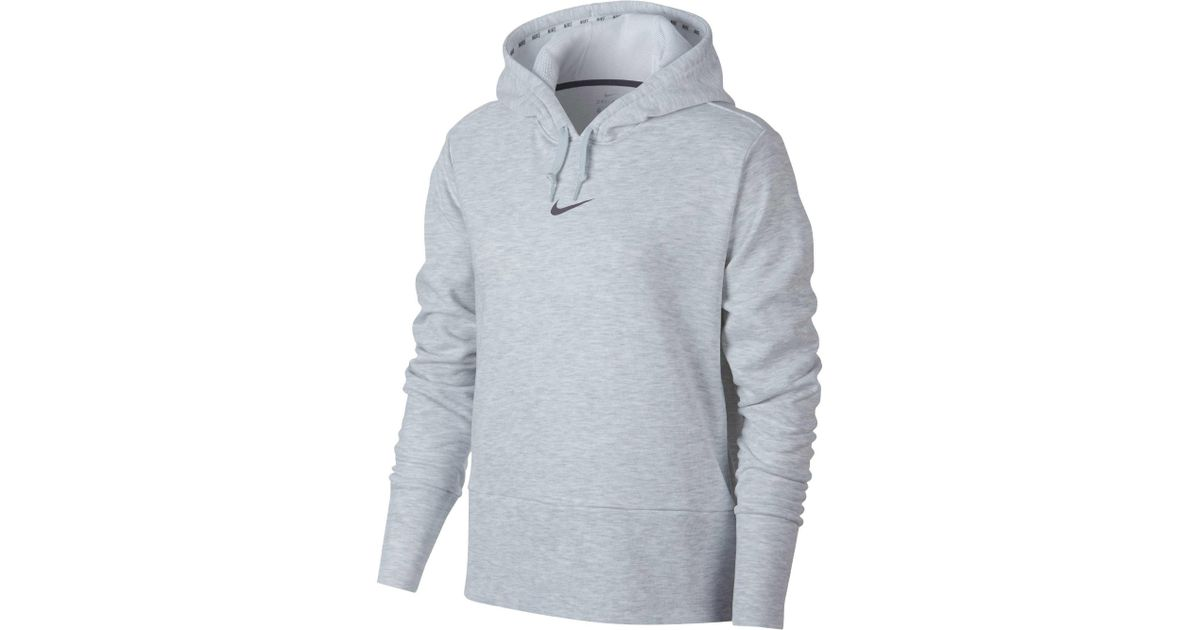 c40f86ac2df6 Lyst - Nike Dry Small Logo Hoodie in Gray