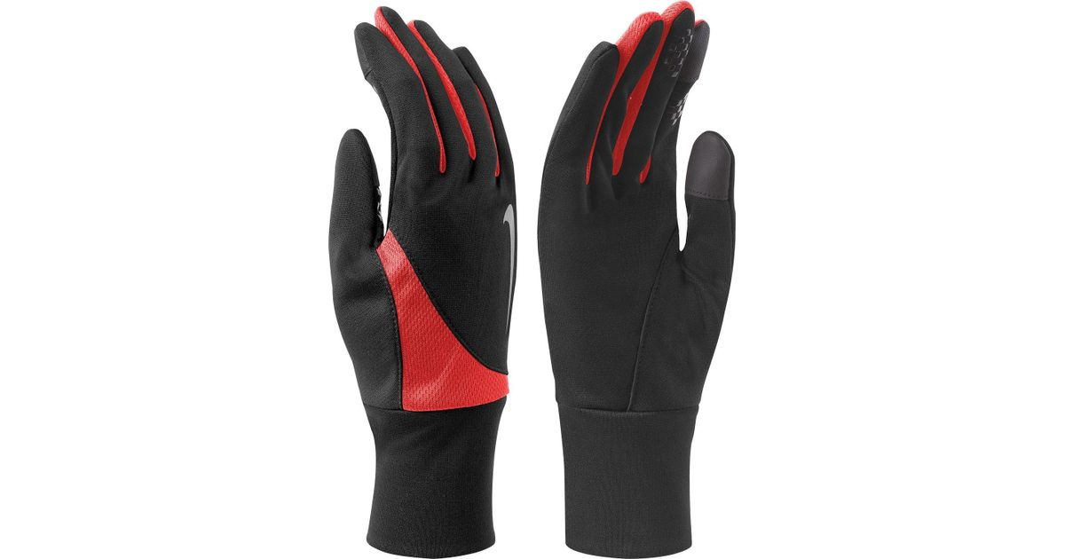 66e8bdb706 Lyst - Nike Solid Tailwind Running Gloves in Black for Men